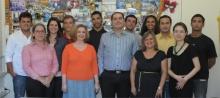 A coordenadora do CCCI, profa. Rosa Marina de Brito Meyer, e equipe.