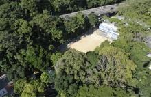 Vista aérea do campo de futebol. Fotógrafo Nilo Lima. Acervo do Núcleo de Memória.