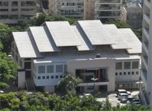 Vista aérea do Ginásio. Fotógrafo Nilo Lima. Acervo do Núcleo de Memória.