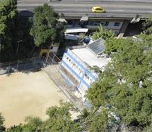 Vista aérea do Laboratório de Engenharia Veicular. Fotógrafo Nilo Lima. Acervo do Núcleo de Memória.