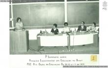 Vera Candau e o Padre Antonius Benkö, S.J. no I Semináriosobre Pesquisa Experimental