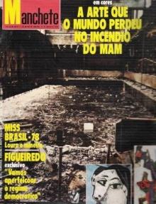 Capa da revista Manchete sobre o incêndio.