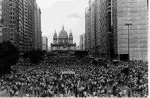 Avenida Presidente Vargas, Rio de Janeiro: comício das Diretas Já.