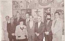 O Reitor, pe. Jesus Hortal com os vice reitores e decanos em 1995.