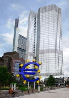 O Banco Central Europeu, em Frankfurt, Alemanha.