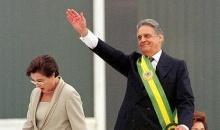 Fernando Henrique Cardoso e a dra. Ruth Cardoso na posse em 1999.