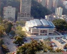 Vista aérea do Ginásio Padre Ormindo Viveiros de Castro.