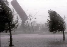 A força de desttruição do furacão Katrina.