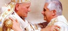O Papa João Paulo II e o, então, cardeal Ratzinger