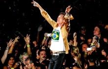 Mick Jaegger e os Rolling Stones em Copacabana.