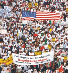 Multidão na manifestação