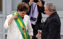Cerimônia de transmissão do cargo. Presidente Dilma Roussef e o ex-presidente Luis Inácio Lula da Silva.