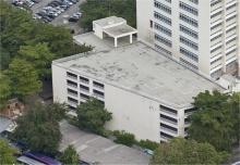 Vista aérea do edifício garagem. Fotógrafo Nilo Lima. Acervo do Núcleo de Memória.