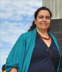 Professora Renata Cantanhede Amarantes. Fotógrafo Antônio Albuquerque. Acervo do Núcleo de Memória.