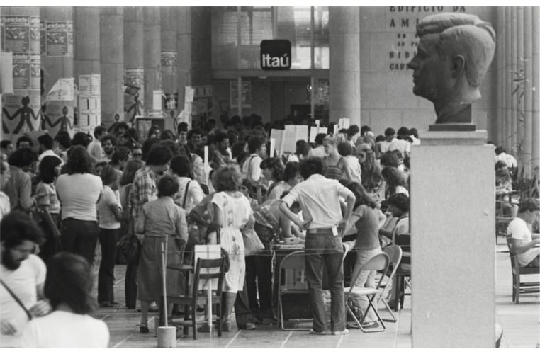 Eleições para os diretórios acadêmicos. 29/10/1978. Fotógrafo Antônio Albuquerque. Acervo Núcleo de Memória.