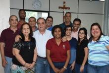 O Prefeito Eduardo Cabral Lacourt e equipe. Fotógrafo Antônio Albuquerque. Acervo Núcleo de Memória.