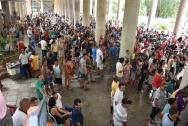 Festa de Final de Ano da AFPUC, realizada em 23/12, no campus da PUC-Rio. Fotógrafo Antonio Albuquerque. Acervo Núcleo de Memória.