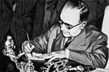 Getúlio Vargas assina o decreto de criação da Petrobras.
