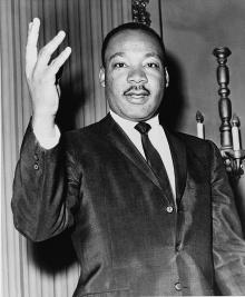Martin Luther King em foto de 1964.
