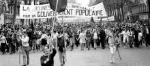 Maio de 1968 em Paris.