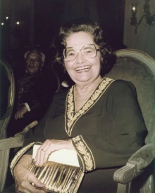 Raquel de Queiroz na posse na ABL.