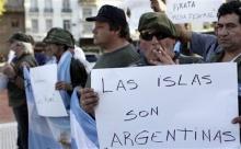 Manifestação argentina pela posse das Malvinas.