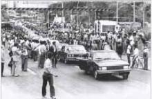 Inauguração da Autoestrada Lagoa-Barra.