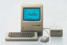 O primeiro modelo do Macintosh.