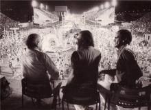 Leonel Brizola e Darcy Ribeiro na Inauguração do Sambódromo.