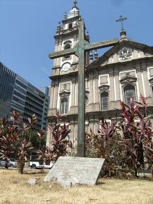 Monumento às vítimas da chacina da Candelária.