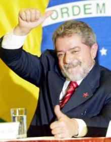 Lula após a vitória eleitoral.