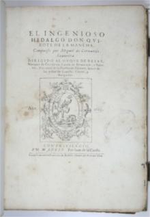 Edição Princeps do Dom Quixote. Madri, 1605-1615.