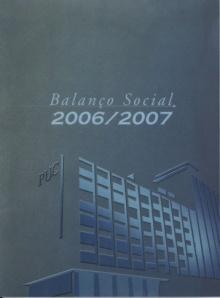 Capa do Balanço Social da PUC-Rio 2006/2007