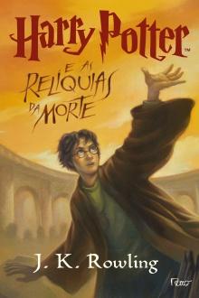 Capa da edição brasileira do último livro da série Harry Potter.