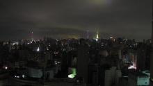 A cidade de Sâo Paulo durante o apagão.