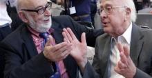 François Englert e Peter Higgs. Fonte: querosaber.sapo.pt