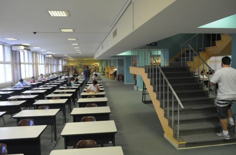 Salão Principal da Biblioteca Central. 2012. Fotógrafo Antônio Albuquerque. Acervo do Núcleo de Memória.