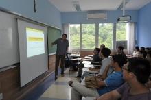 O seminário foi realizado na sala L856. Fotógrafo Antônio Albuquerque. Acervo do Núcleo de Memória.