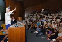 Participação de José Celso Martinez Corrêa. Evento realizado no auditório do RDC. Fotógrafo Antônio Albuquerque.