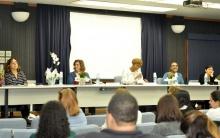Palestrantes no Auditório Padre Anchieta. Fotógrafa Carol Lucchetti. Acervo do Projeto Comunicar.