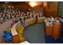Evento realizado no Auditório do RDC. Fotógrafo Antônio Albuquerque. Acervo Núcleo de Memória.