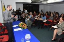 Evento de entrega dos selos, no auditório do IAG. Fotógrafo Antônio Albuquerque.