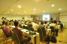 Uma das palestras realizadas no Hotel Mirador, em Copacabana. Fotógrafo desconhecido. Acervo do Projeto Comunicar.
