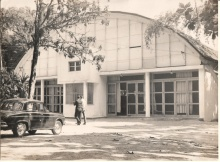 Antigo ginásio esportivo, c. 1960.