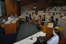 Abertura do evento, no Auditório do RDC.  Fotógrafo Antônio Albuquerque. Acervo do Núcleo de Memória.