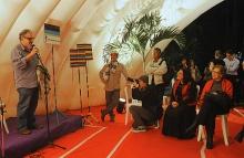 Fala do prof. Sérgio Bruni durante o evento. Fotógrafa Camille Valbusa. Acervo do Projeto Comunicar.
