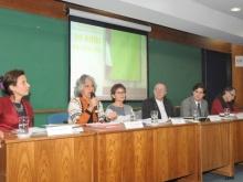 Fala da profa. Luiza Helena Nunes Ermel durante evento. Fotógrafo Antônio Albuquerque. Acervo do Núcleo de Memória.