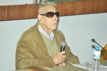 O geógrafo Aziz Nacib Ab'Sáber. Fotógrafo Jorge Paulo. Acervo do Projeto Comunicar.