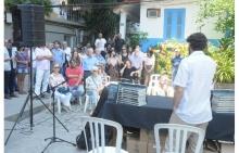 O evento ocorreu na Vila dos Diretórios, próximo ao local onde foi plantada uma árvore em homenagem a Raul Amaro. Fotógrafo Antônio Albuquerque. Acervo Núcleo de Memória.