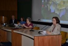 Mesa com os palestrantes no Auditório do RDC. Fotógrafo Antônio Albuquerque. Acervo do Núcleo de Memória.